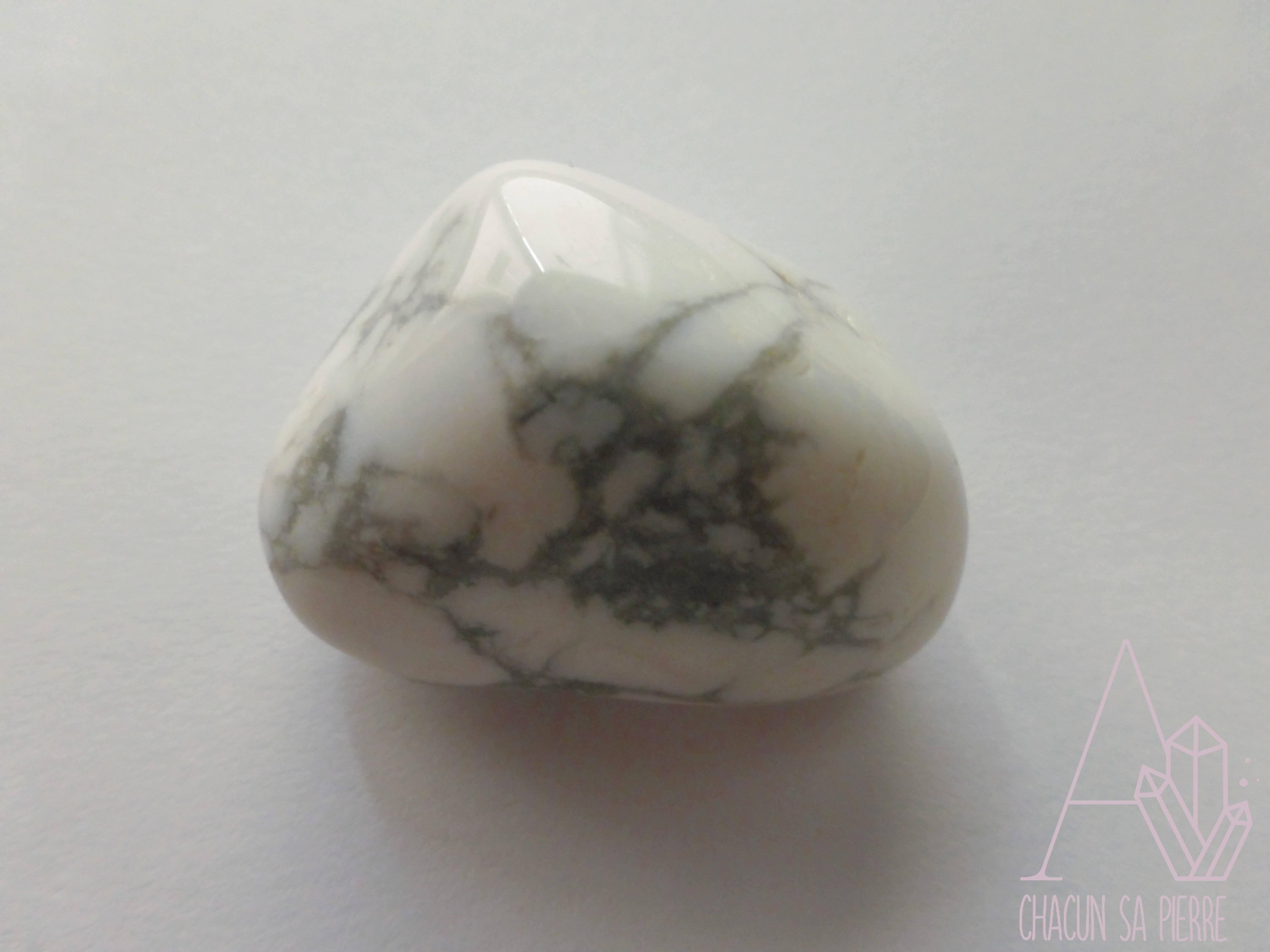 Howlite pierre roulée – A Chacun sa Pierre