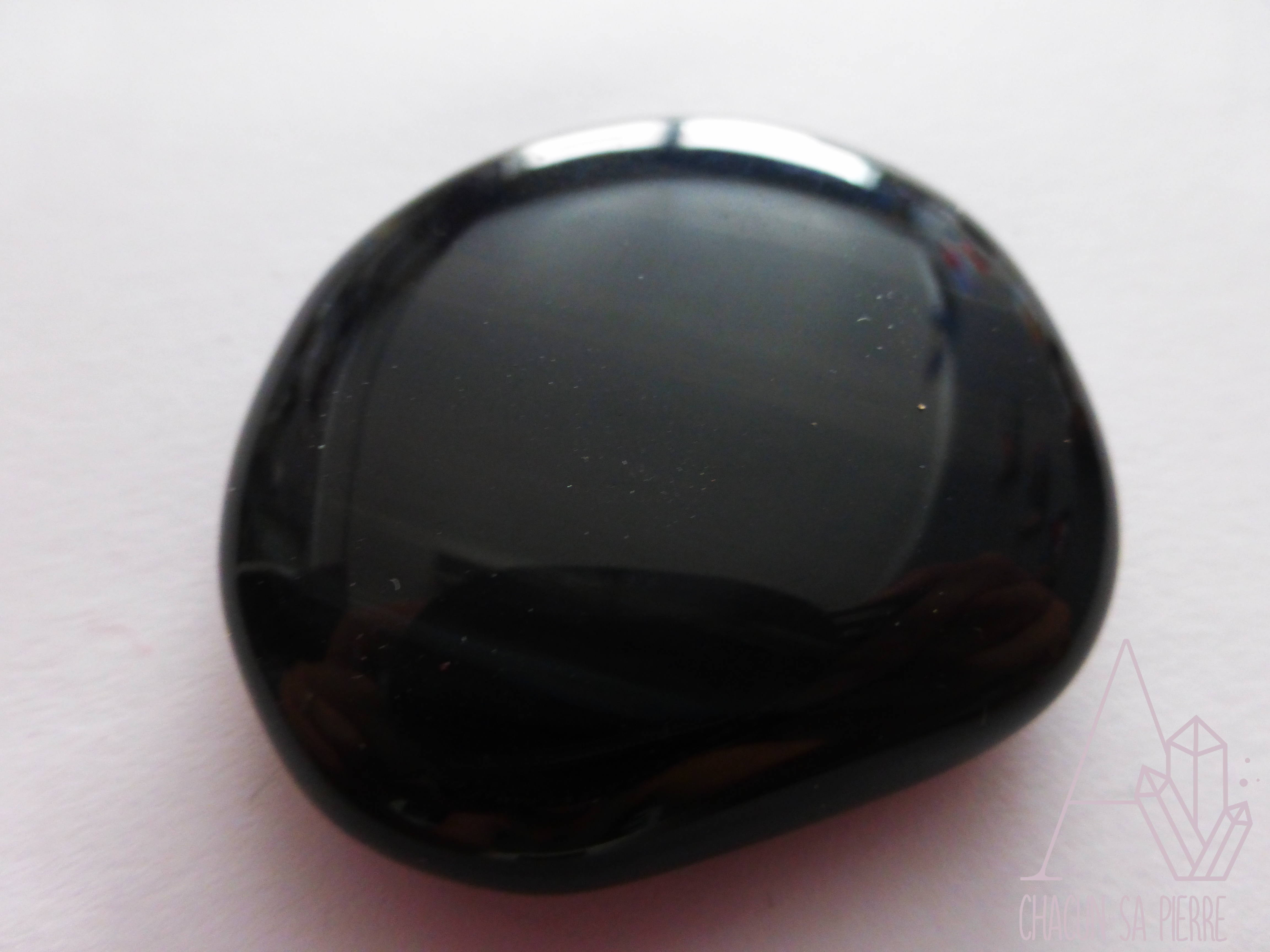 Obsidienne oeil c leste pierre plate a chacun sa pierre for Miroir obsidienne